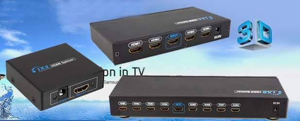 HDMI 1X4 Distribution Amplifier with 3D