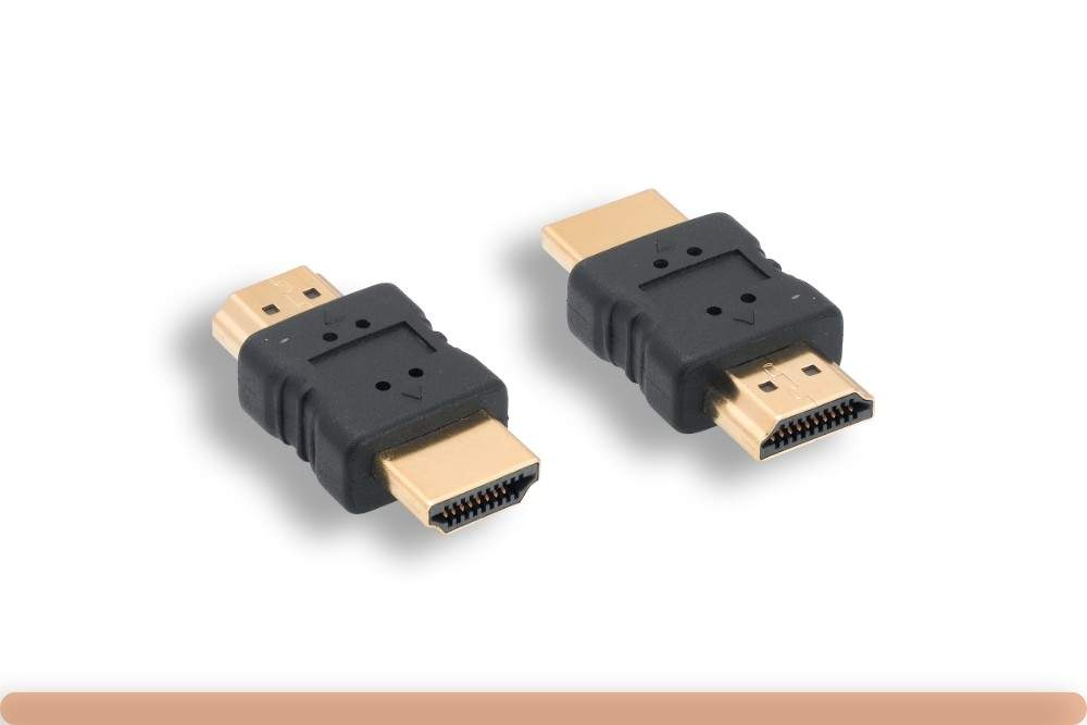 HDMI Adapter Type-A Male to Type-A Male Coupler Gender Changer