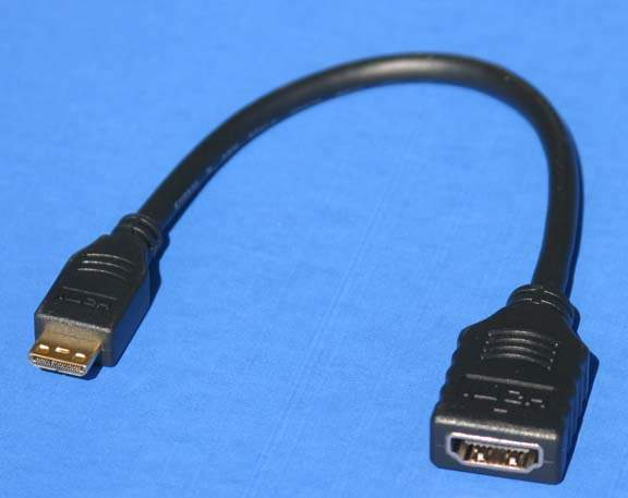 HDMI Type-C Male TO HDMI Type-A Female Adapter cable 8 inch