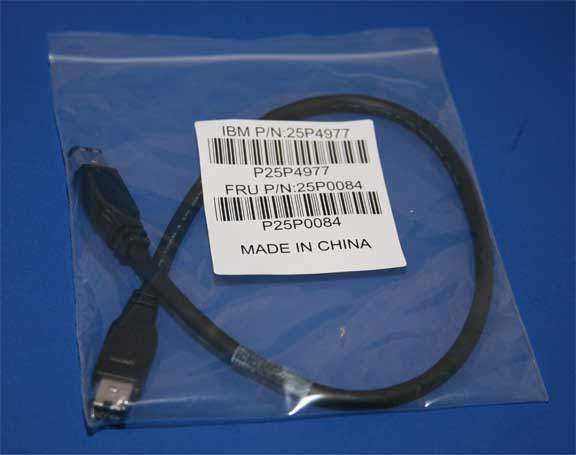 IBM FIREWIRE Cable 1.5Ft BLACK 6PIN 6PIN 25P4977