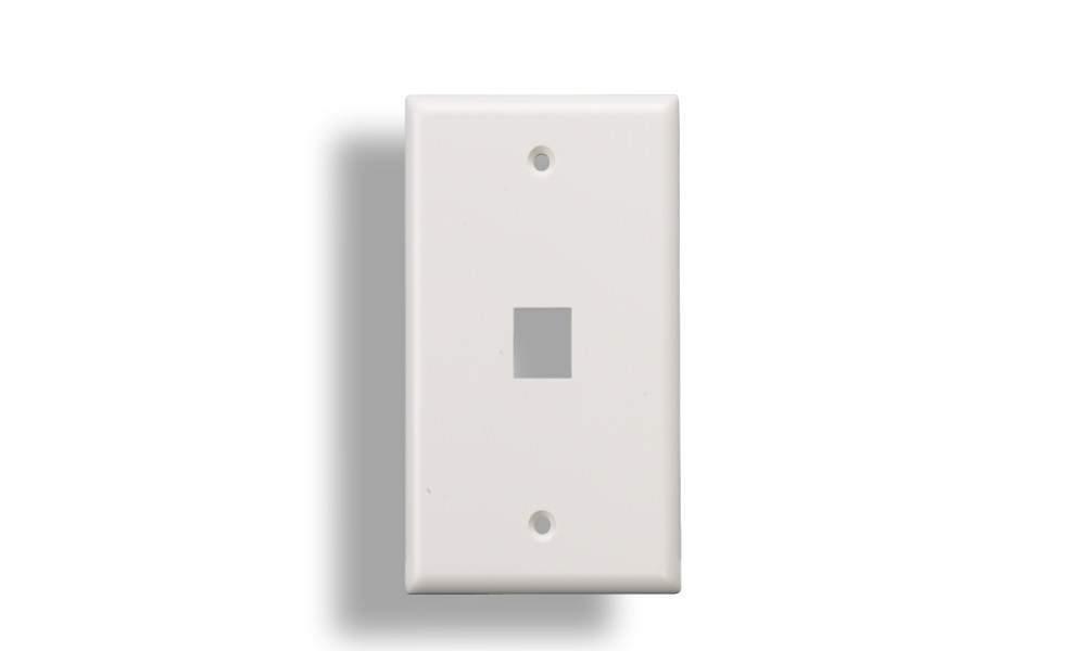 KEYSTONE Wall Plate 1-Hole White