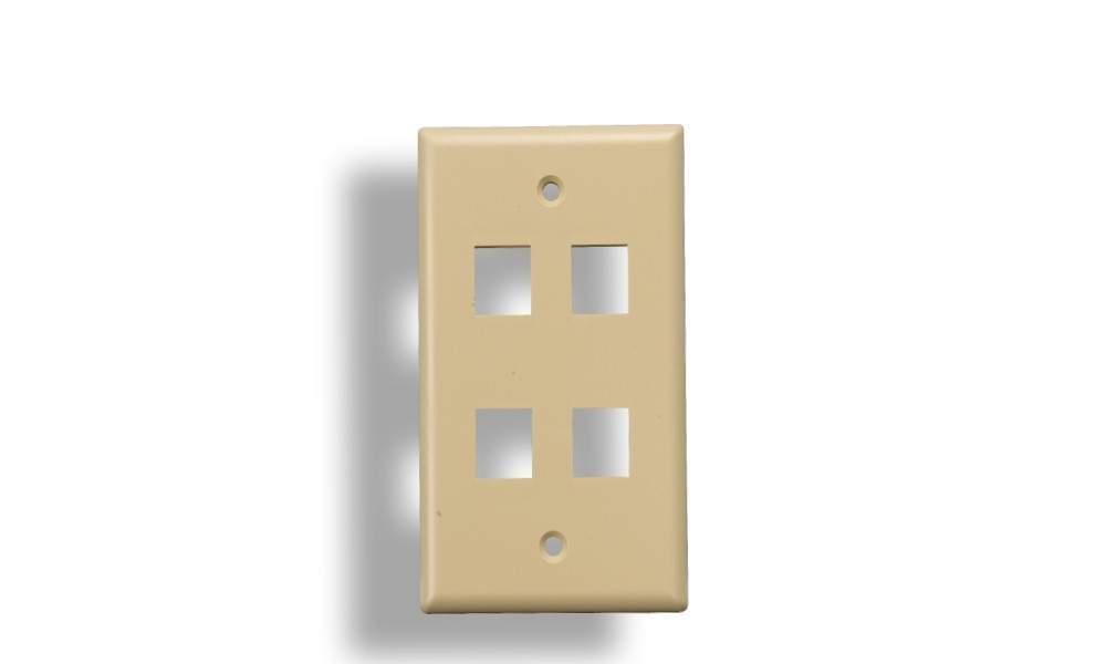 KEYSTONE Wall Plate 4-Hole Ivory