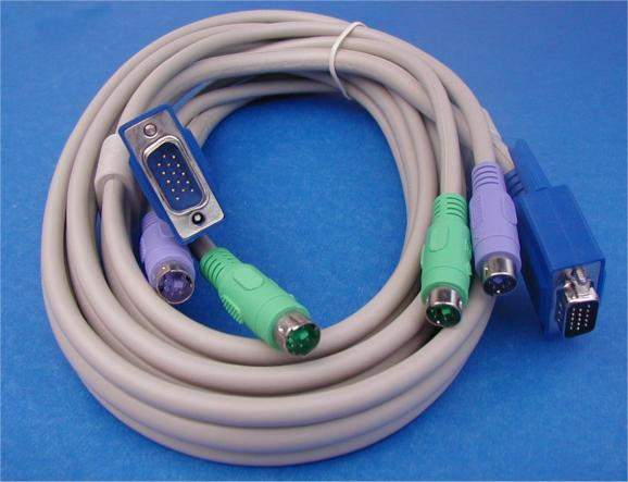 KVM Cable 10FT VIDEO Male to Male