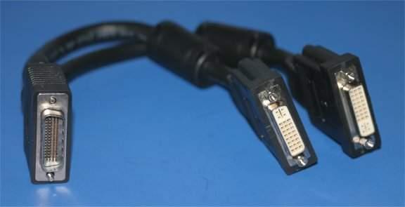 LFH-59 CABLE DMS-59 DY599A NVIDIA-PNY-HP DVI