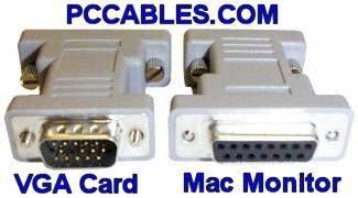 MAC MONITOR DB15-F to HD15-M VGA PC SYSTEM ADAPTER