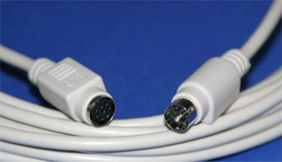 MINI DIN8 CABLE MALE TO FEMALE 6FT EXTENSION MF