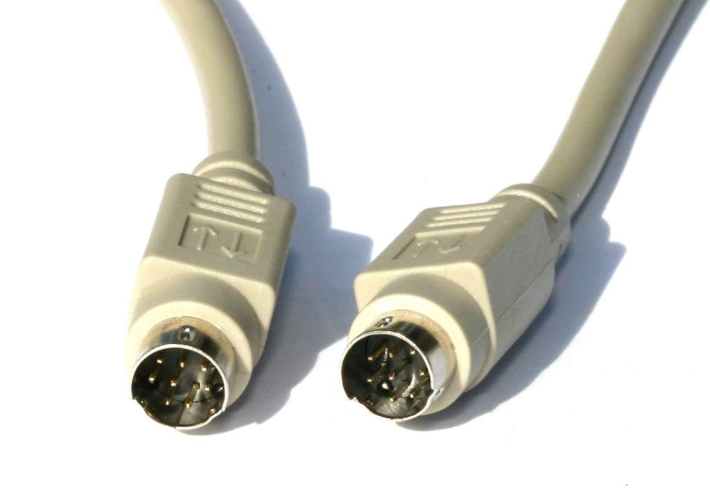 MINI DIN8 CABLE Male Male 25FT