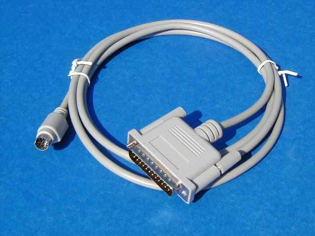 MINI DIN8 M to DB25-M Serial 6FT Cable