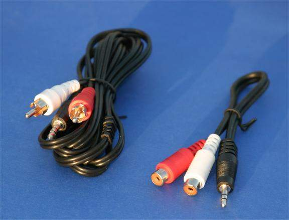 MP3 Audio Connection Kit 2 Cable Set 6FT and 6IN Ipod Compatible