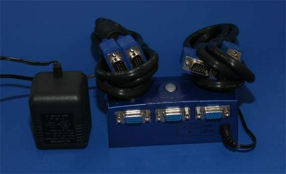 Monitor Switch Kit Electronic 2-Systems to 1-Monitor