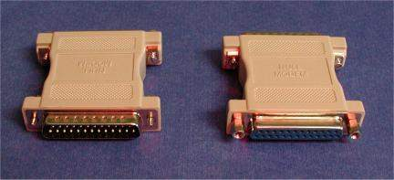 NULL MODEM ADAPTER DB25 F-M