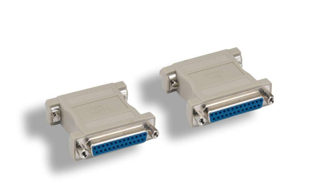 Null Modem Adapter DB25F to DB25F