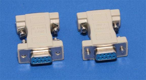 Null Modem Adapter DB9F to DB9F