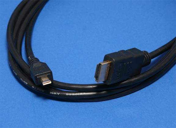 Olympus Compatible Video Cable CB-HD1 Type-A to Type-D HDMI