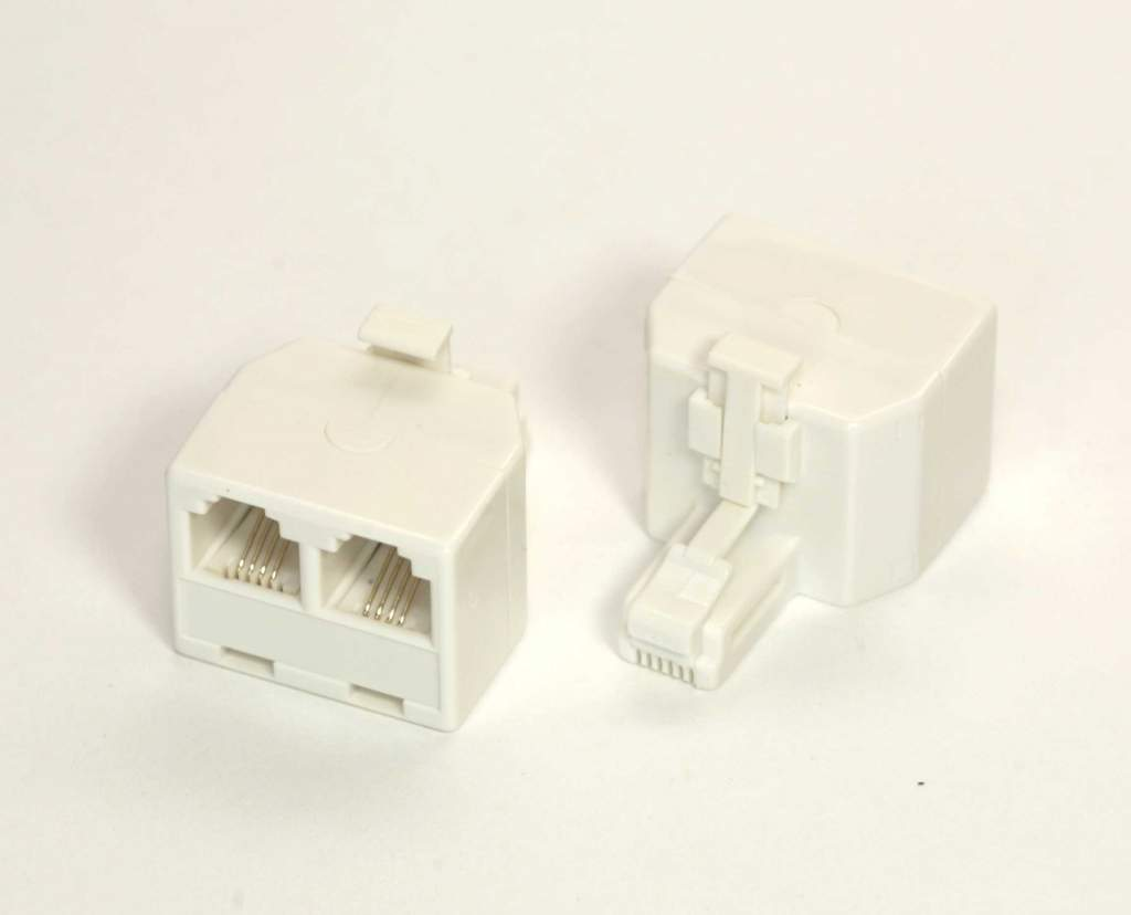 phone line splitter rj11 duplex connector 1m to 2f