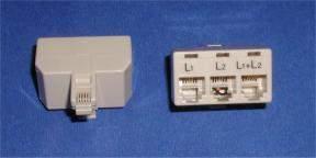 PHONE LINE SPLITTER RJ11 TRIPLEX L1-L2 Connector 1M to 3F