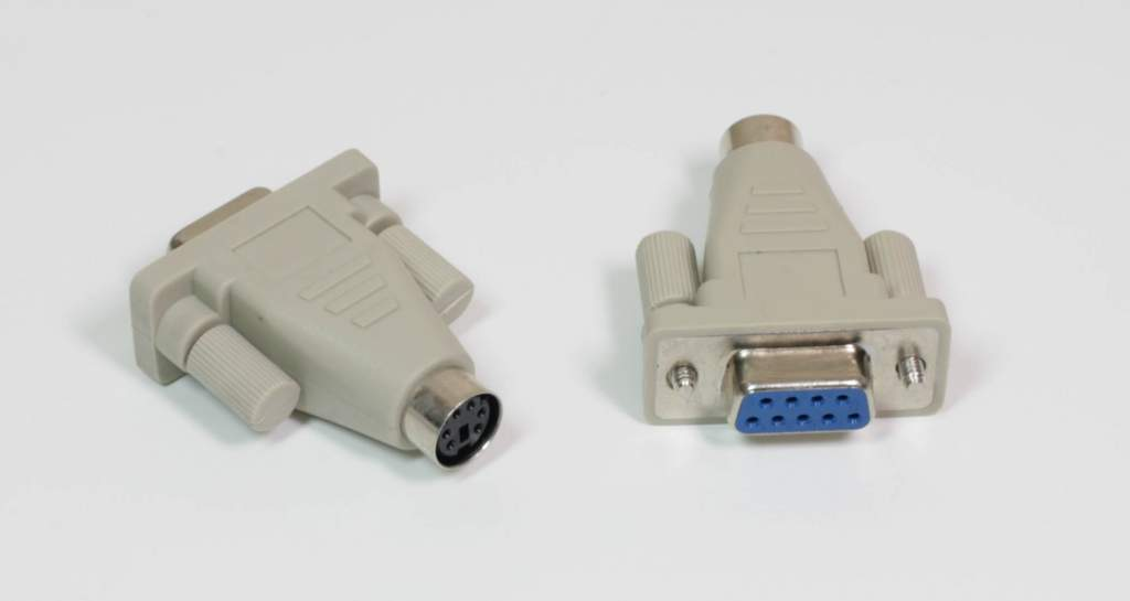 PS2-F Mouse TO DB9-F Serial port Adapter PS2-Mini Din 6 Beige