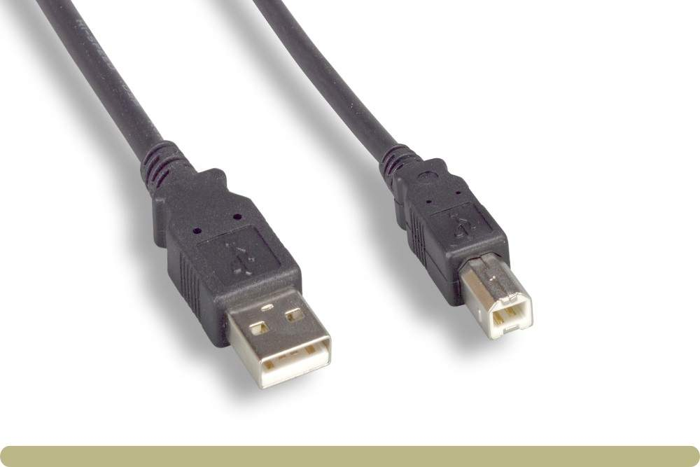 Printer Cable USB Printer Scanner Cable 6ft High Speed A Male to B Male Cord for HP Canon Epson Dell