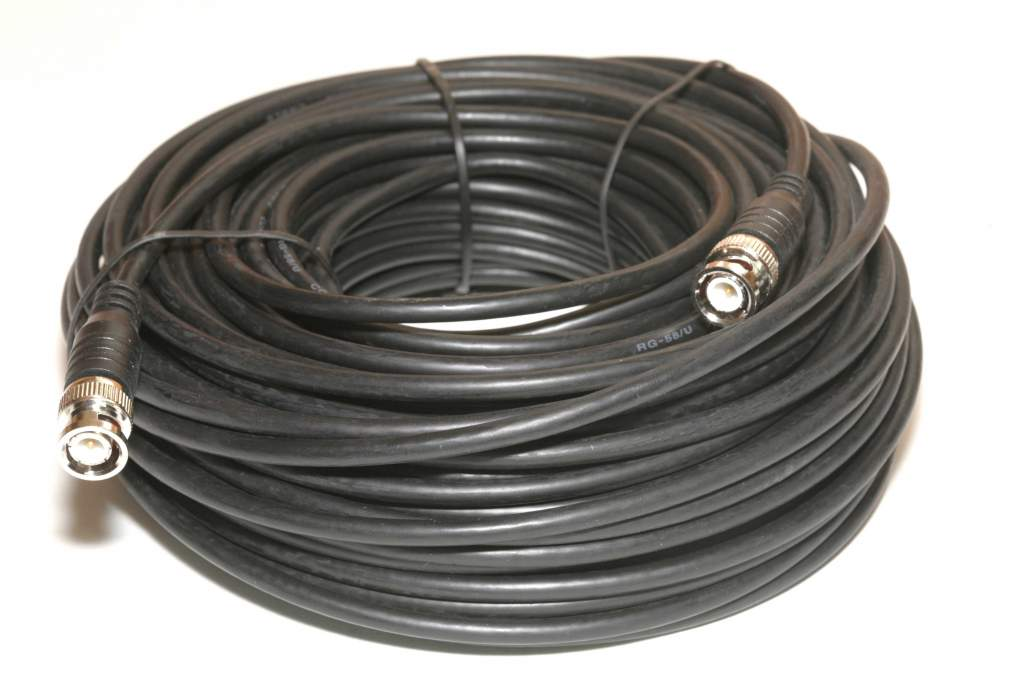 RG58 COAX BNC 100FT Cable Male-Male