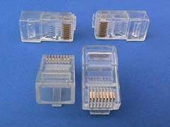 RJ45 8P8C MODULAR PLUG CRIMPS FOR SOLID-ROUND