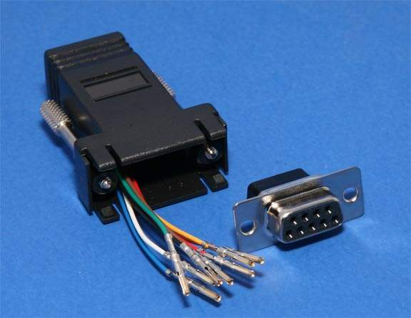 RJ45 DB9 Female Adapter Black RS232 Modular DB9F rj45 to db9 female adapter black rs232 modular db9f cisco,adapter