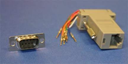 RJ45 to DB9-Male Modular Adapter