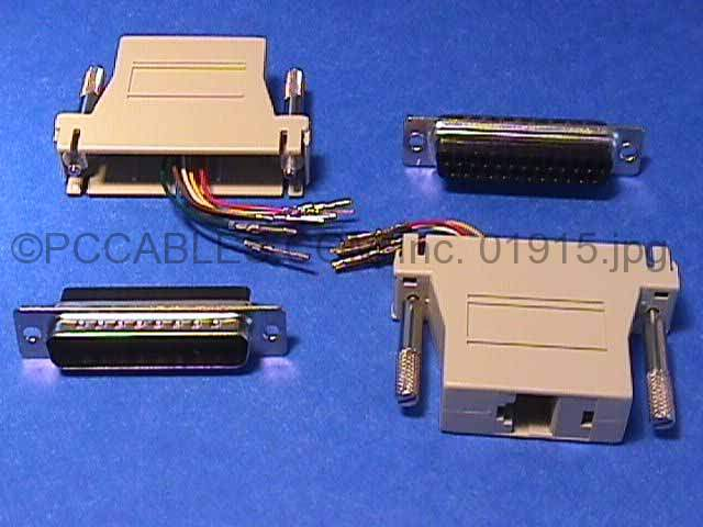 About Rj12 Rj11 To Db25 25 Pin Male Modular Connector Adapter Beige