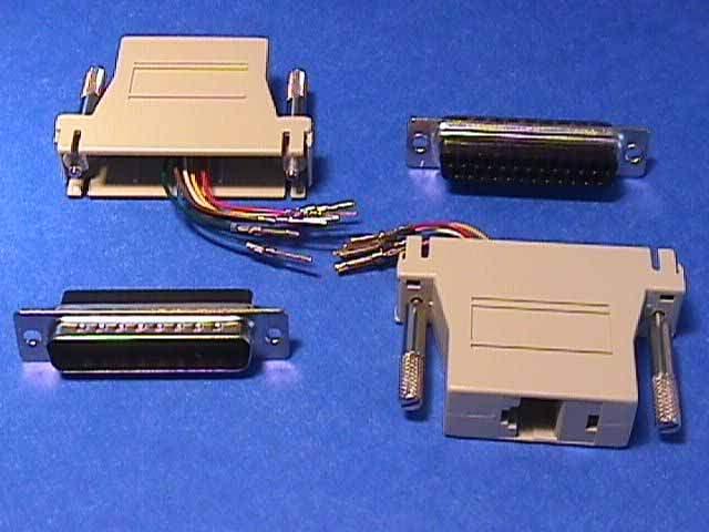 rj45 to db25 male modular adapter. Black Bedroom Furniture Sets. Home Design Ideas