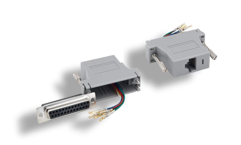 RJ45 to DB25-Female Modular Adapter
