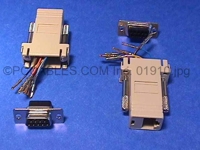 RJ45 to DB9 F Adapter rj45 to db9 f adapter pccables com rj45 to db9 adapter wiring diagram at crackthecode.co
