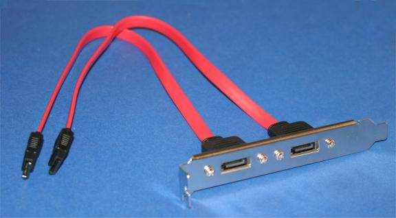 SATA-L Dual Ports on Bracket 12 inch Leader