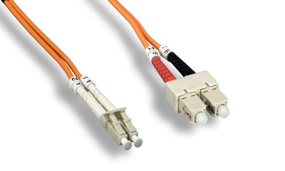 SC-LC FIBER OPTIC 3Meter 62.5 125UM Duplex Multimode