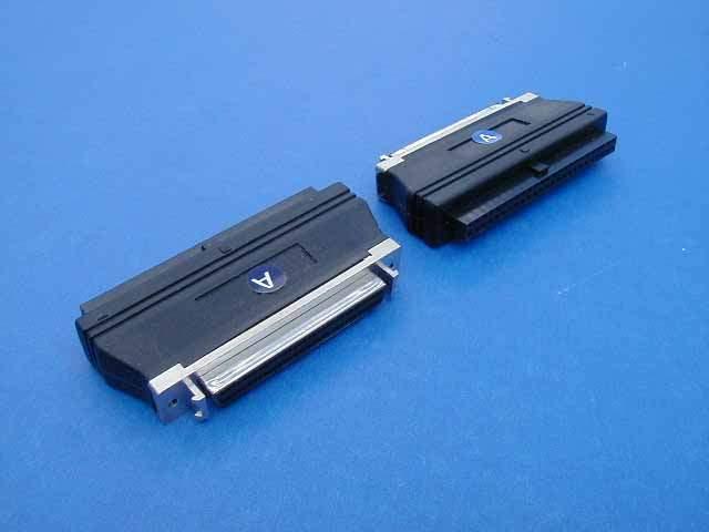 SCSI INTERNAL IDC50-F to HPDB68-F Adapter with HI BYTE TERM