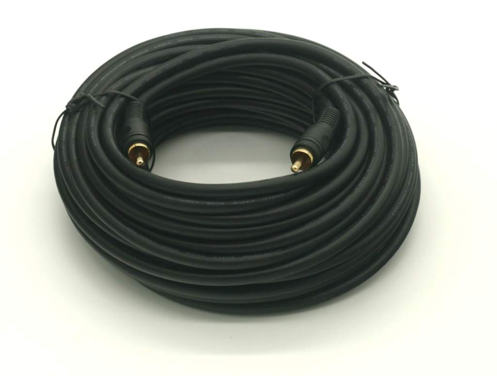 SINGLE RCA Male to Male Video Shielded Cable 50FT