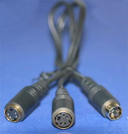 SVHS SVideo Splitter Cable 4PIN MINI F-F-M 12Inch