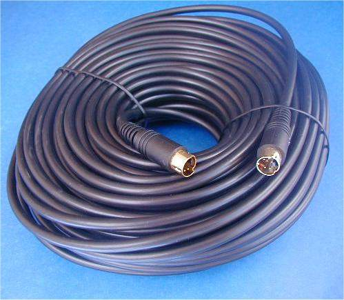 SVIDEO Cable Minidin4 Male to Male 75FT Mini-Coax