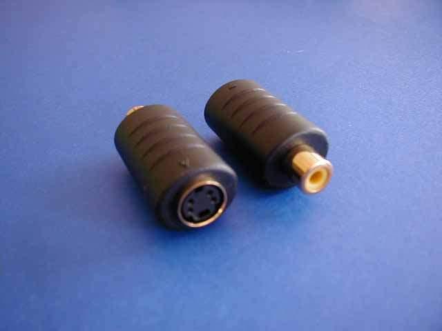 SVideo Adapter Mini Din 4 Female to RCA-F