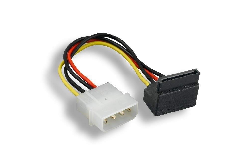 Sata Power Cable 6-Inch Assembled Connector 90 Degree Right Angle
