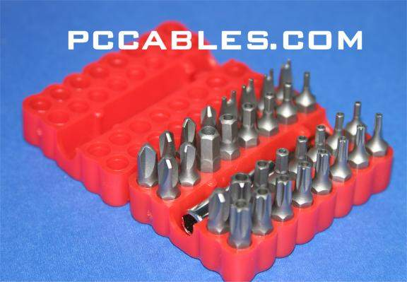 Security Bit Set 33PCS Torx Hex Tri-Wing With Case