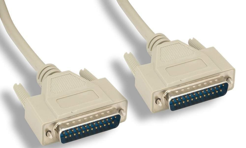 Serial Null Modem Cable 10FT DB25M DB25M