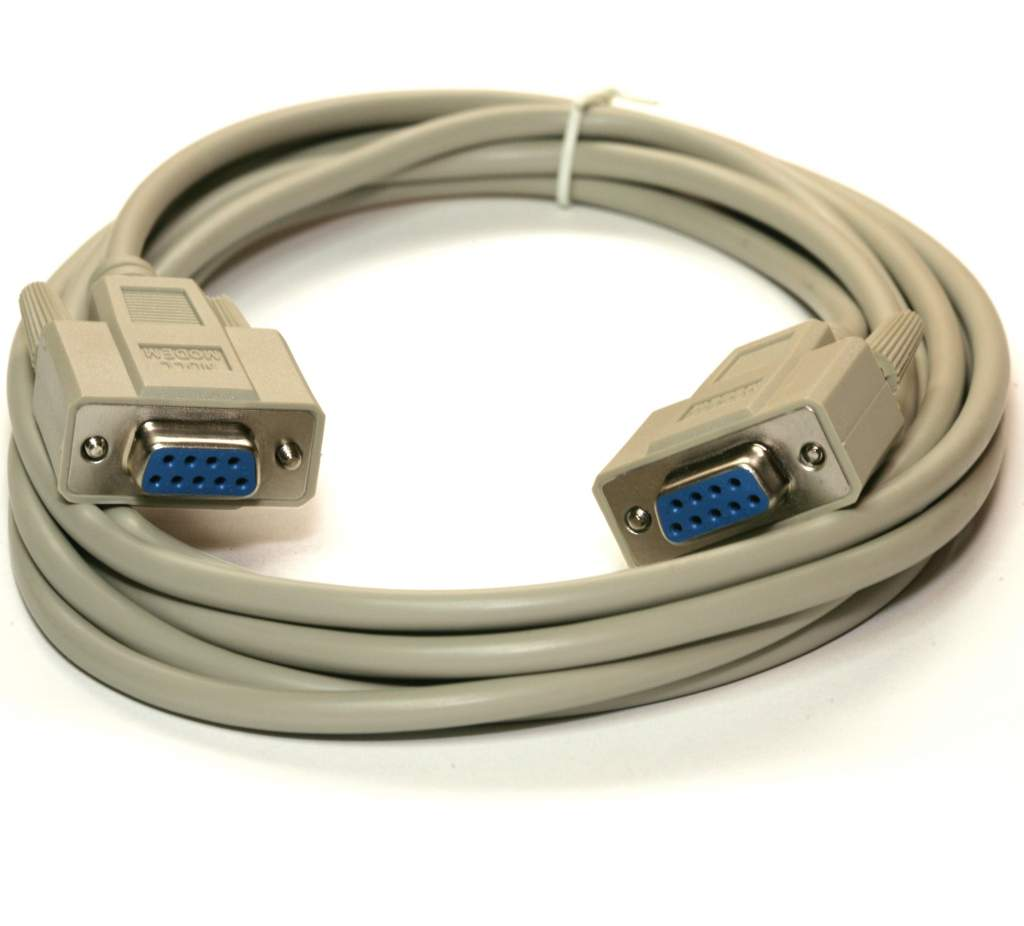 Serial Null Modem Cable 10FT DB9-F DB9-F
