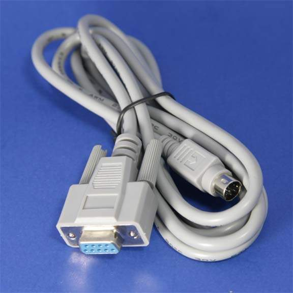 Serial cable - DB-9 - F - 8 pin mini-DIN - M - 6 ft - PC