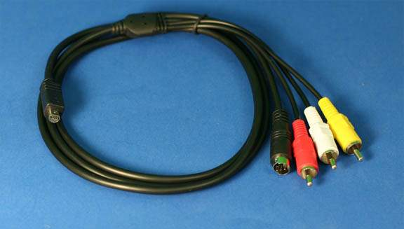 Sony VMC15FS AV Cable for most Sony MiniDV and DVD Camcorders Compatible