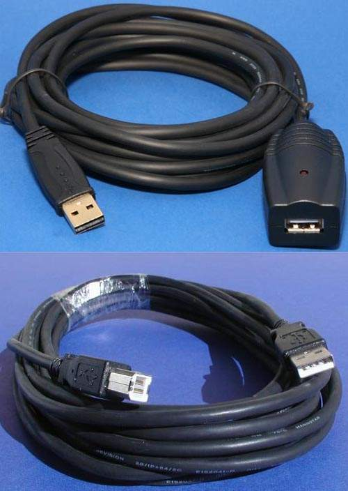 USB 2.0 COMPUTER CABLE LONG TYPE A to TYPE B CABLE 30FT