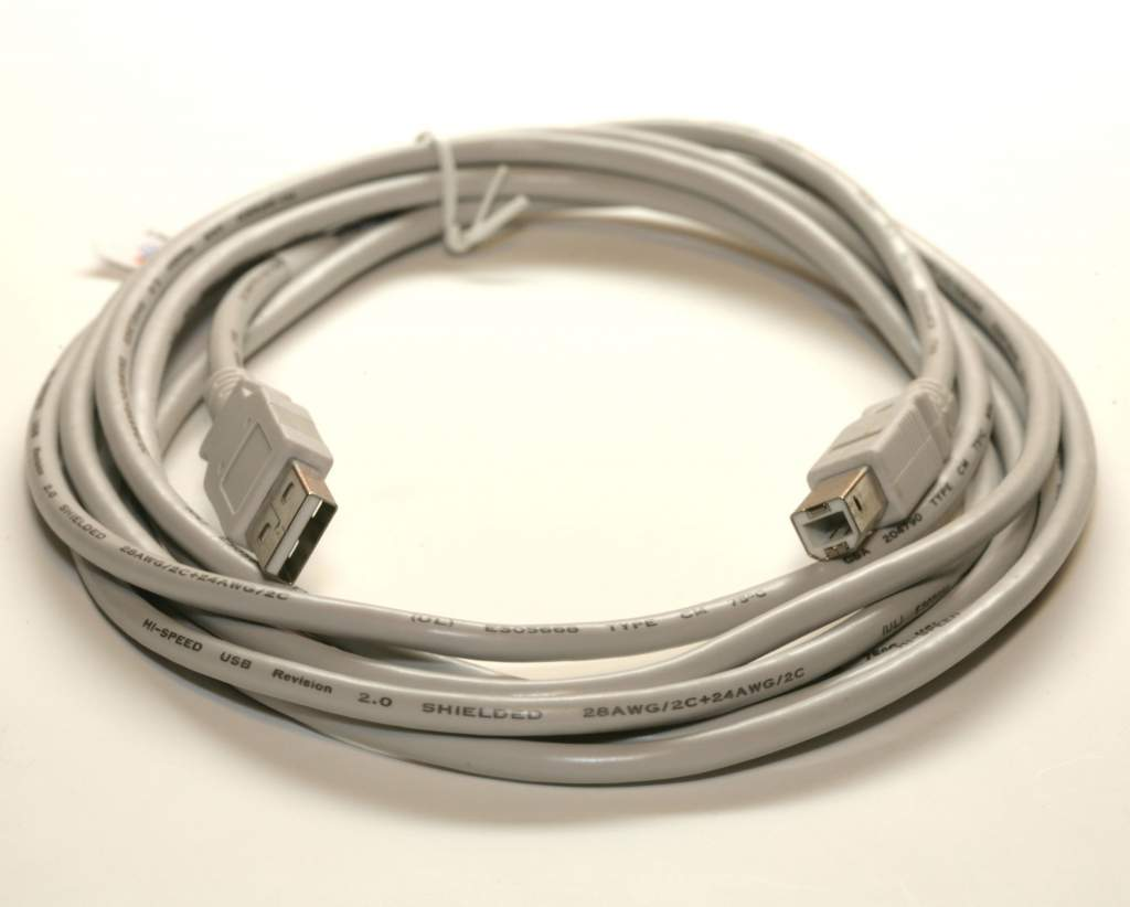 USB 2.0 Cable Type-A to Type-B 10 Feet 10FT White