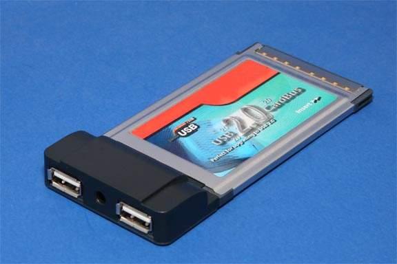 USB 2.0 PCMCIA CARDBUS to DUAL USB Port
