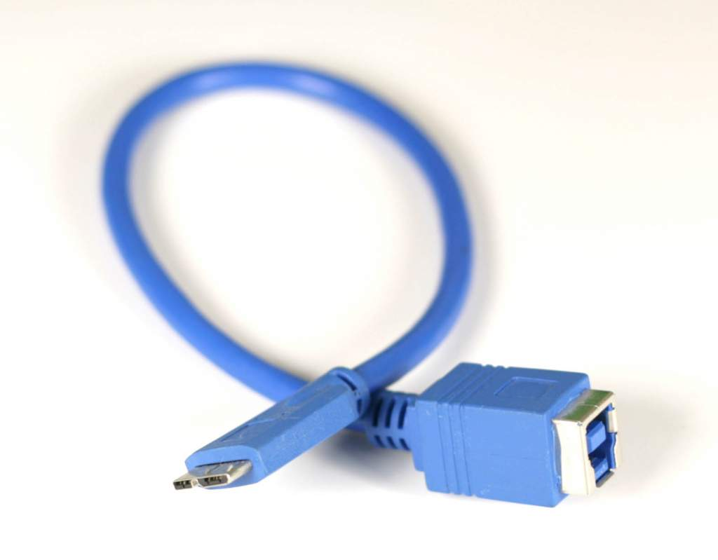 USB 3.0 B Female to USB MicroB 3.0 Male Adapter Cable