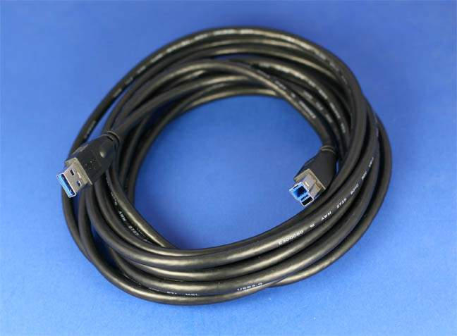 USB 3.0 SuperSpeed Cable A-B 15FT