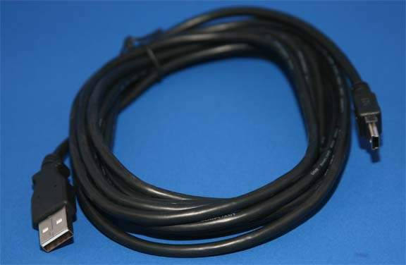 USB-A to Mini-B 5-Wire Camera Cable 10FT