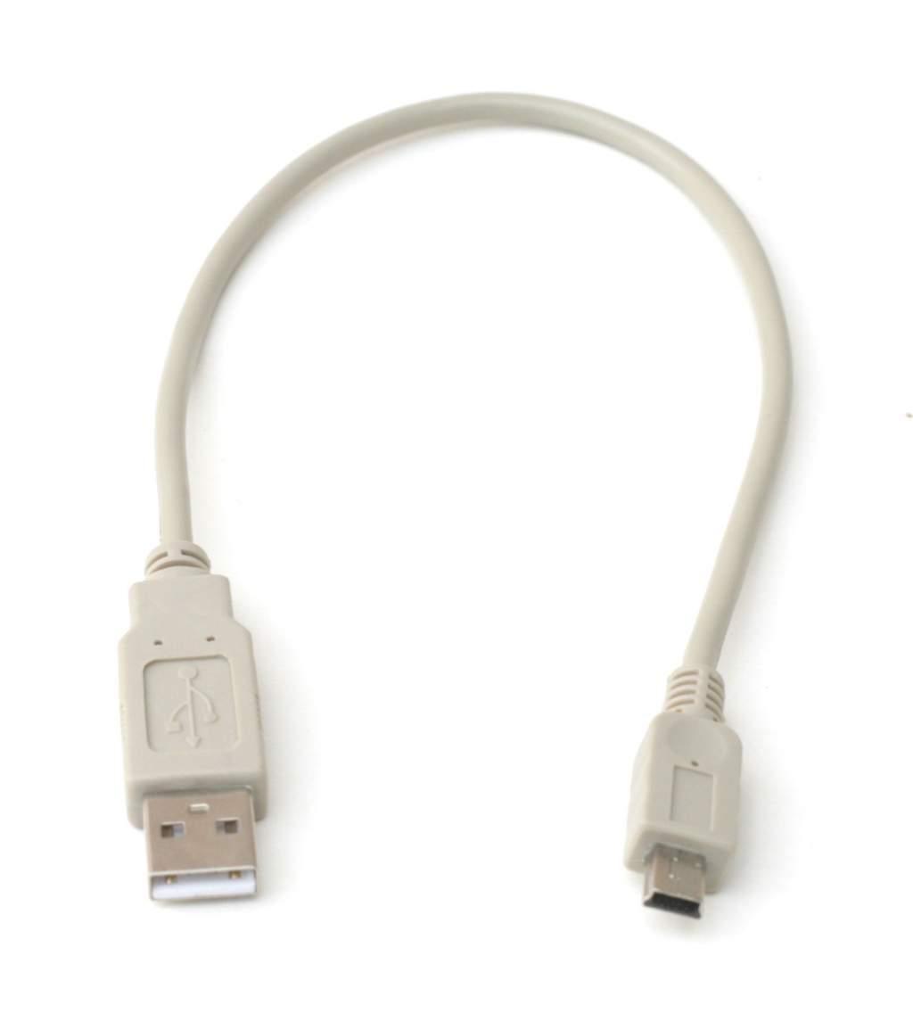 USB Camera Cable MINI-B 5-Wire 12IN Beige 1FT
